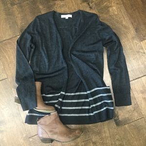 LOFT medium open front sweater